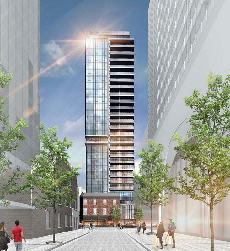 Adagio Condos Building Frontview Menkes Developments