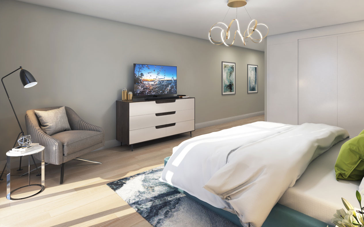 FourMe Condos Toronto Bedroom Suite Sideview