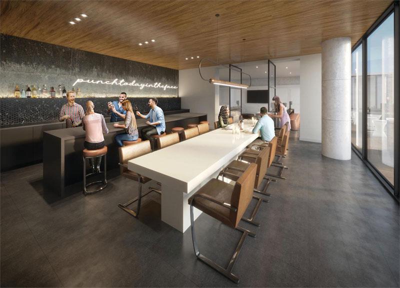 XO2 Condos Lounge Dining Room