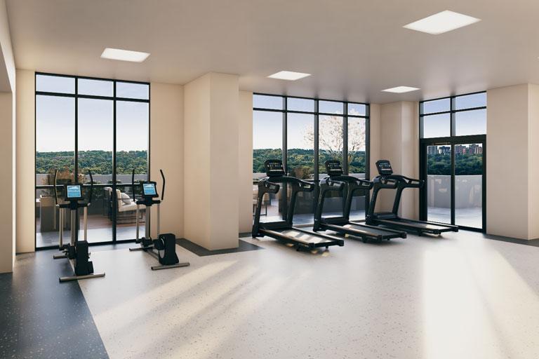 FourMe Condos Gym Area