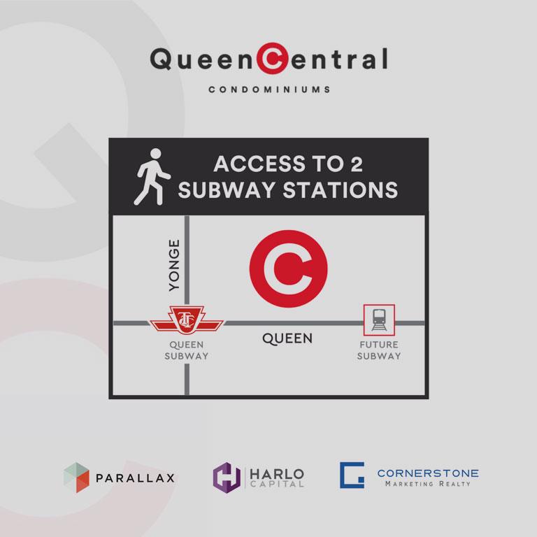 Queen Central Condos is close to subways