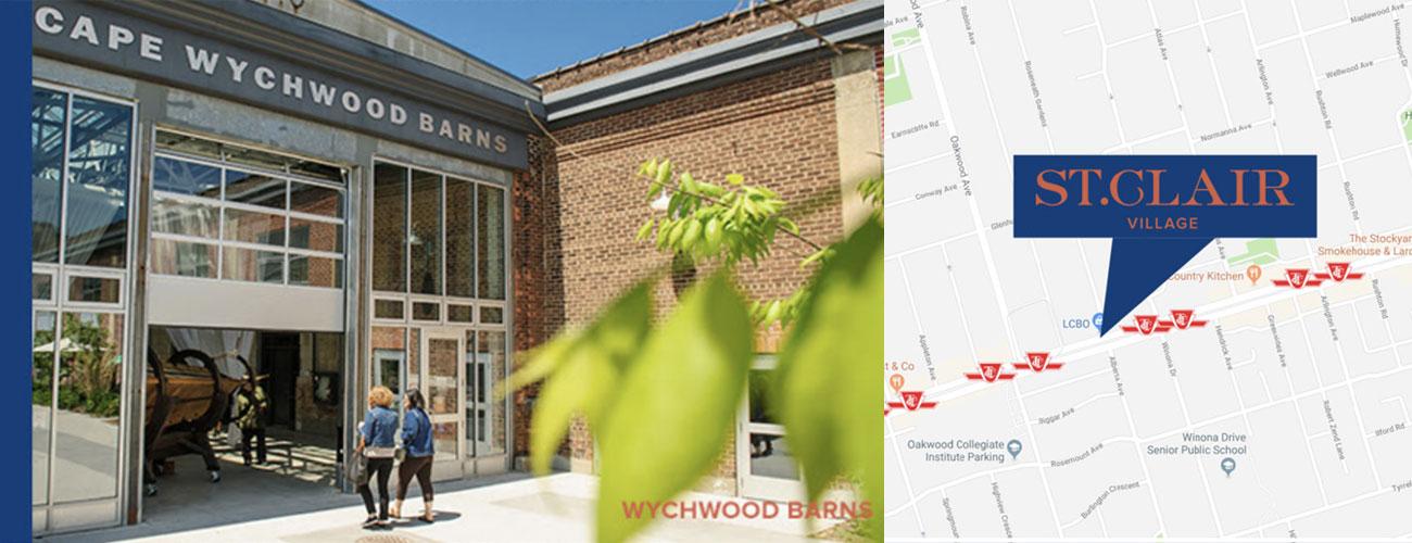 St Clair West Village Condos Location