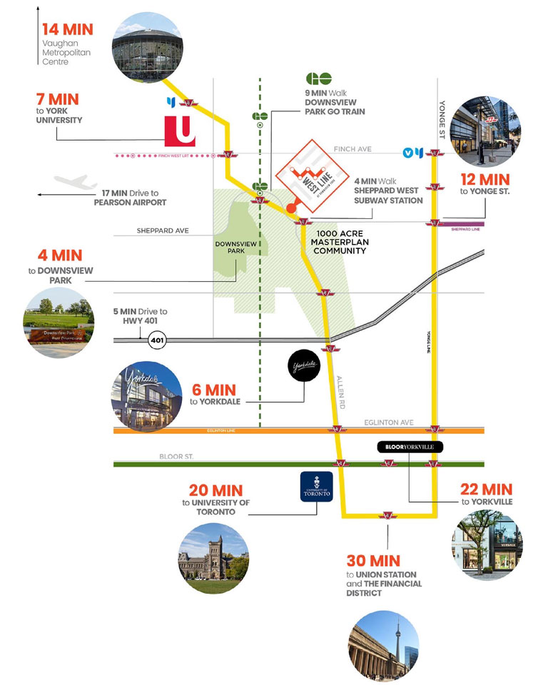 Westline Condos Transit Map