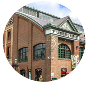 St Lawrence Market close to the Whitfield Condos