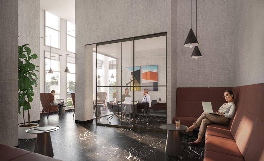 The Wilmot condos Oakville Tech Lounge