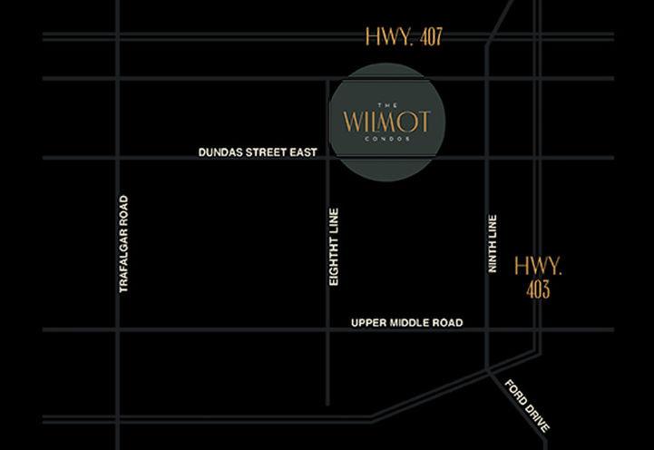 The Wilmot Location Map Oakville