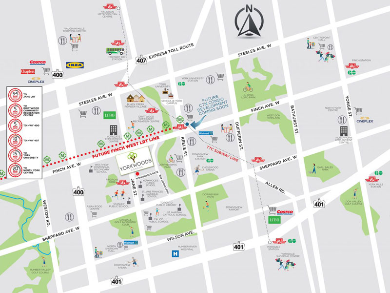 Yorkwoods Transit Map Toronto